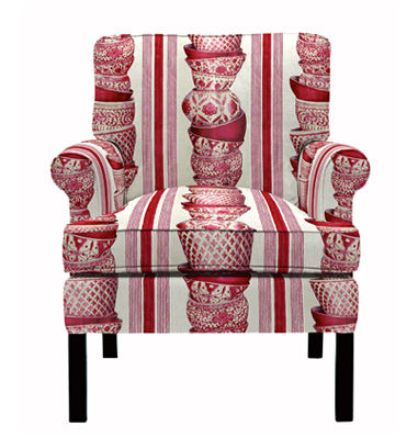 traditional armchair ANTONIA by Yves Hallard  PIERRE FREY tissus