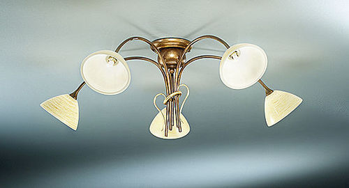 traditional ceiling lamp (glass) SARA: 034/5PL, -6PL, 8PL arte luce