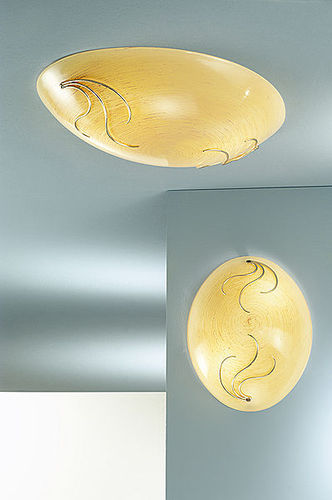 traditional ceiling lamp (glass) SARA: 036/2PL, -4PL arte luce