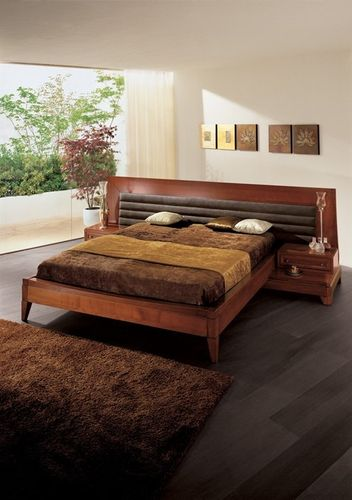 traditional double bed with integrated bed-side table AMARCORD FBL
