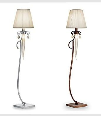 traditional fabric floor lamp INTERNI DI LUCE: OLIMPIA by V. Prearo Prearo Collezioni Luce