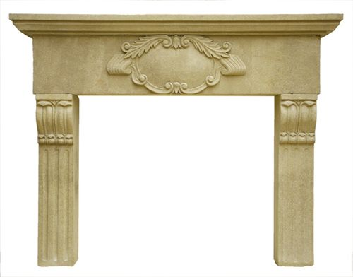 traditional mantel for fireplace (stone) CONELY