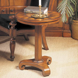 traditional pedestal side table SUNBURST NICHOLS & STONE