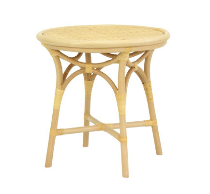 traditional rattan side table TS-006 (NA) Yamakawa Rattan Japan Inc.