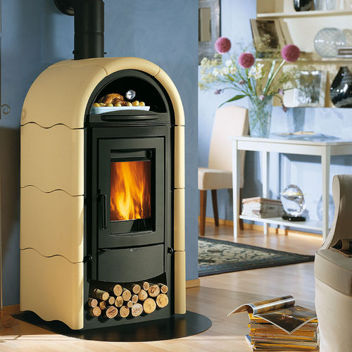 traditional wood-burning stove (ceramic, with oven) STEFANY FORNO Nordica