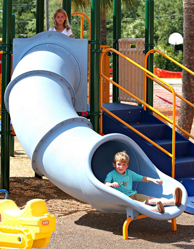 tube slide for playground CURVED TUNNEL little tikes