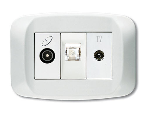 TV-RD-SAT socket BANQUISE SERIES Ave spa