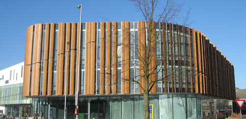 ventilated wooden facade LENCO LAMELLEN, AUFTRAGGEBER: DE GROOT HESS-WOHNWERK