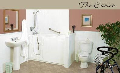 walk-in bath-tub for the disabled THE CAMEO Seabridge BATHING