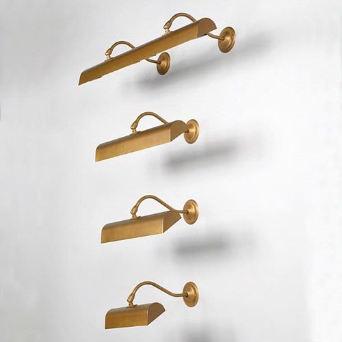 wall picture light (brass) PICTURE LIGHTS : SWAN NECK VAUGHAN