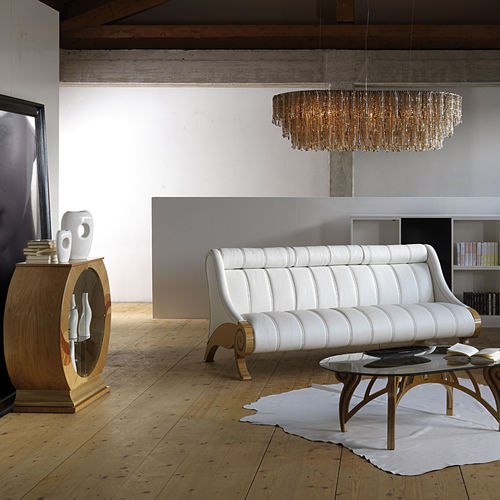 wood and leather traditional sofa CONTEMPORARY CARPANELLI CONTEMPORARY
