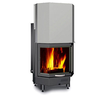 wood-burning closed hearth for boiler fireplaces TERMOCAMINO 650 PRISMATICO  Nordica