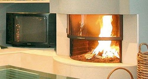 wood-burning closed hearth for fireplaces GALBE 900 TOTEM fire