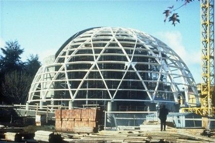 wooden dome tensile structure CHURCH IN VARESE Haring Engineering Ltd