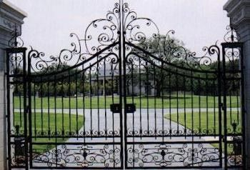 wrought iron entrance gate ecospace