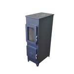 gas heating stove / wood / contemporary / metal