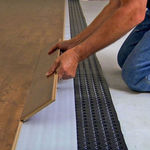 thermal insulation / synthetic / interior / for floors