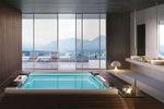 built-in hot tub / rectangular / 8-seater / indoor