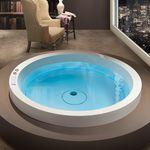 round bathtub / acrylic / hydromassage / by Marc Sadler