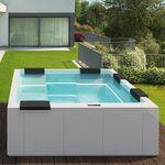above-ground hot tub / rectangular / 6-seater / 5-seater