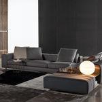 Modular sofa / contemporary / fabric / leather FREAAMAN Minotti