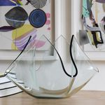 contemporary vase / frosted glass