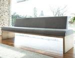 contemporary bench / oak / walnut / metal