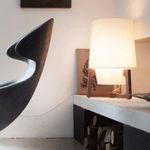 table lamp / contemporary / oak / walnut