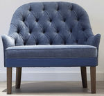 traditional sofa / fabric / wooden / blue