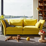 Contemporary sofa / fabric / by Edward Barber & Jay Osgerby / 2-seater MARIPOSA vitra USA
