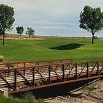truss bridge / steel / pedestrian