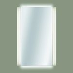 wall-mounted mirror / contemporary / rectangular / stainless steel