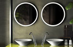 Wall-mounted mirror / contemporary / round / bathroom CONO: 45921 by Prospero Rasulo GESSI SPA