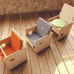 contemporary chair / child's / wooden