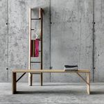 contemporary bench / solid wood / residential
