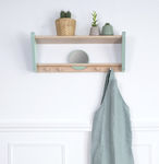 wall-mounted shelf / Scandinavian design / solid wood / lacquered MDF
