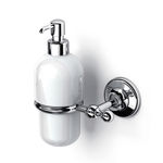 commercial soap dispenser / wall-mounted / metal / ceramic