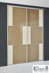 walk-in closet door / sliding / glass / melamine