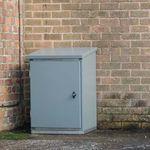 floor-standing electrical enclosure / industrial / empty / with door