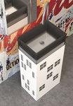 Free-standing washbasin / rectangular / glass / contemporary SKYLINE REGIA