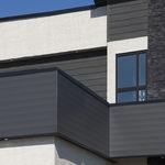 aluminum cladding / smooth / strip / wood look
