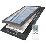 projection roof window / wooden / double-glazed / insulated
