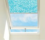 "Projection roof window / wooden / aluminum / double-glazed SOLAR POWERED  ""FRESH AIR""  VELUX"