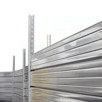 Construction site fence / with panels / galvanized steel / modular  MARCEGAGLIA