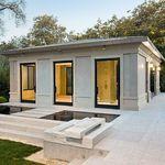 prefab micro-house / natural stone