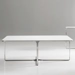 Coffee table / contemporary / metal / in wood ACCENT by Steve Oh BERNHARD design