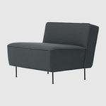 Scandinavian design fireside chair / fabric / black / brown