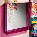 Wall-mounted mirror / contemporary / square / PMMA ONLY ME Kartell