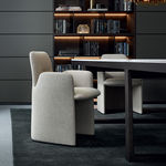 Contemporary chair / leather / fabric / by Rodolfo Dordoni GUEST Poliform
