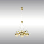 Contemporary chandelier / brass / custom / by Josef Hoffmann 21604 by Wiener Werkstaette Woka Lamps Vienna
